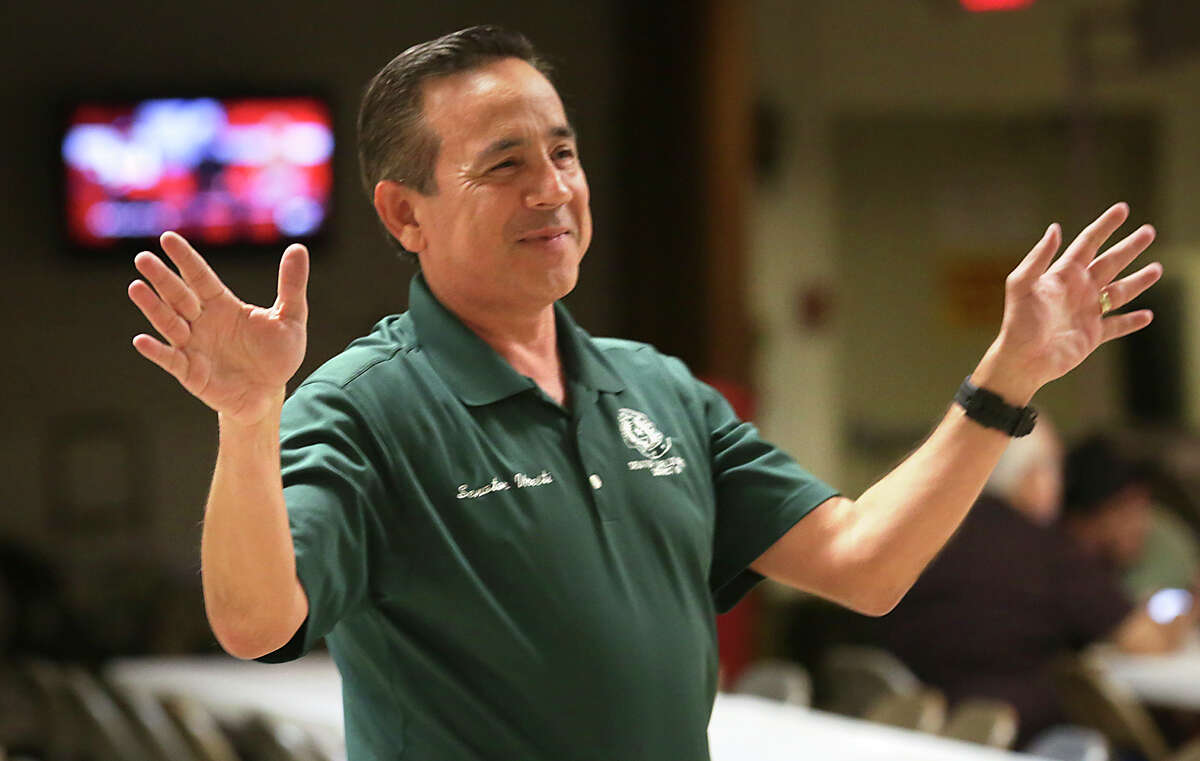 State Sen. Carlos Uresti, pictured after winning a March primary, was sued the following month by the trustee in FourWinds Logistics. Uresti was accused of failing to pay back a $40,000 promissory note. This month, he settled the litigation by paying $30,000.