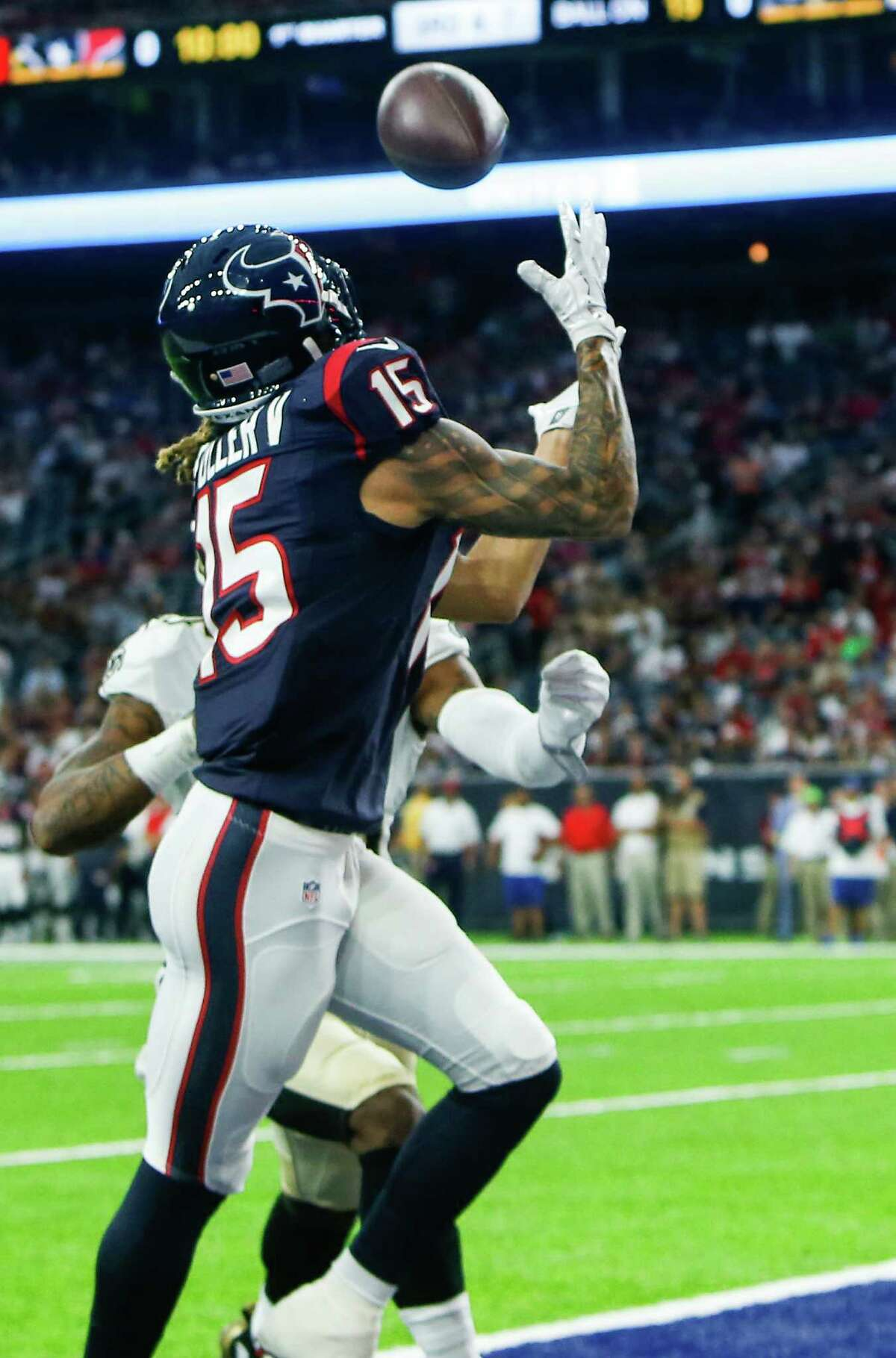 The Texans' first-round draft pick displayed speed, sound hands and precise route-running, catching a touchdown pass and finishing with four catches for 73 yards and one touchdown. Fuller also went across the middle for a 25-yard reception. He's beginning to emerge as a potentially impactful complementary presence to Pro Bowl wide receiver DeAndre Hopkins.