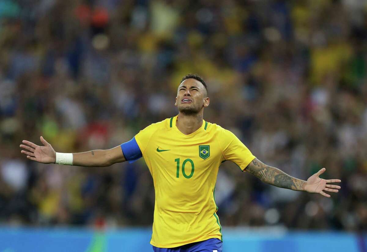Brazil's Neymar converted the decisive penalty kick during the gold-medal match of the men's soccer tournament between the host country and 2014 World Cup champion Germany.