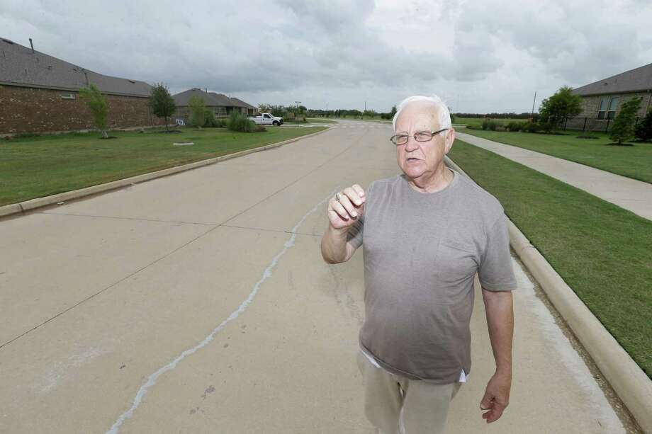 Clifford Gay, a Del Webb Sweetgrass resident, worries about higher taxes as MUD 187 sells more bonds. Photo: Melissa Phillip, Staff / © 2016 Houston Chronicle