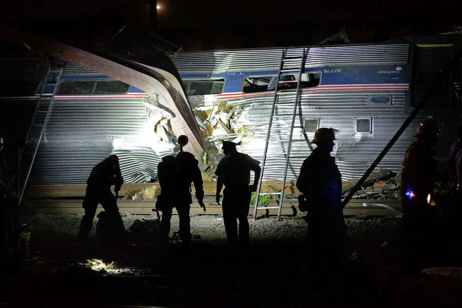 Multiple injuries are reported during an Amtrak crash of a northbound train in Port Richmond on May 12, 2015, in Philadelphia. Photo: Tom Gralish / McClatchy-Tribune News Service / Philadelphia Inquirer