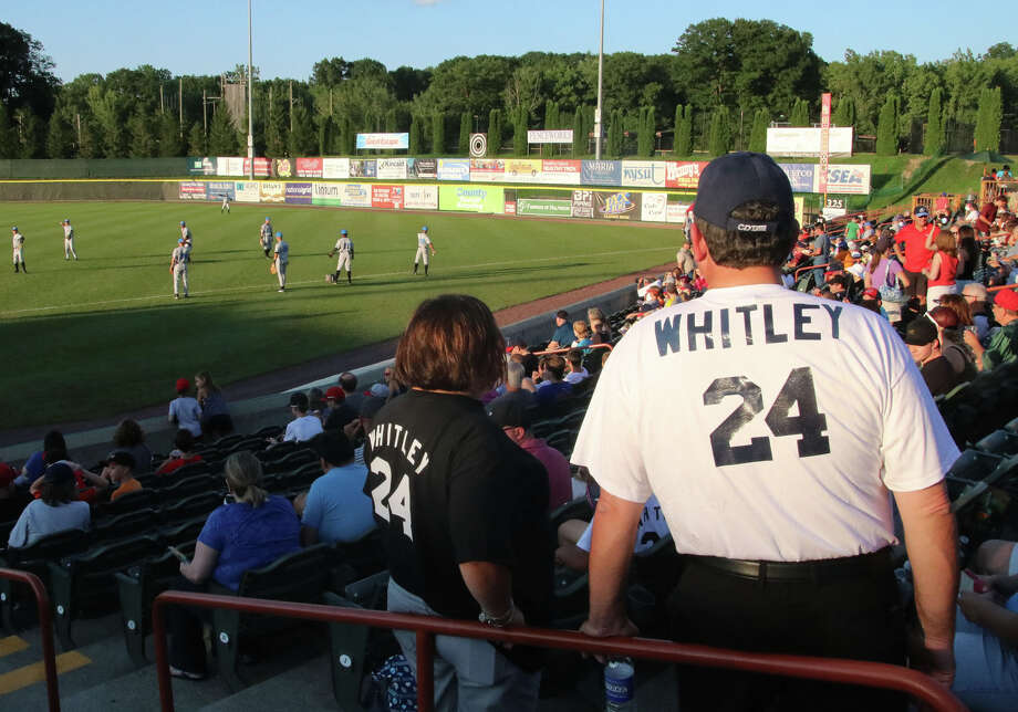 Garrett Whitley fans turn out for the Nisky grad's appearance during Saturday evening's matchup between the Tri-City ValleyCats and the Hudson Valley Renegades August 20, 2016 at Joe Bruno Stadium in Troy, N.Y. (Ed Burke/Special to The Times Union)