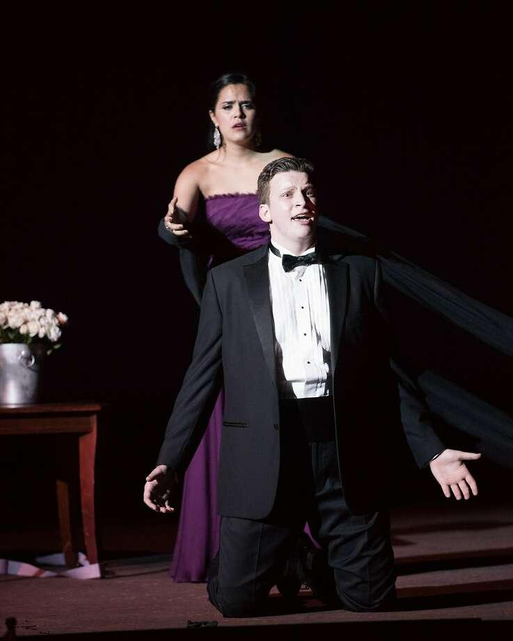 "Soprano Teresa Castillo and countertenor Aryeh Nussbaum Cohen perform a selection from ""Orfeo ed Euridice"" by Gluck. Photo: Kristin Loken"