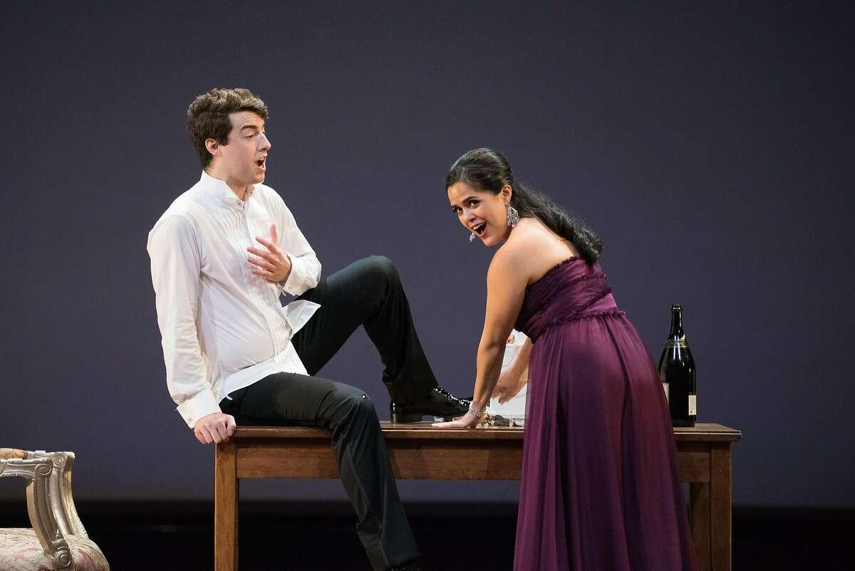 Teresa Castillo (La Comtesse Adele) and Josh Lovell (Le Comte Ory) perform �Ah, quel respect madame pour vos vertus m�enflamme� from Le Comte Ory by Rossini.