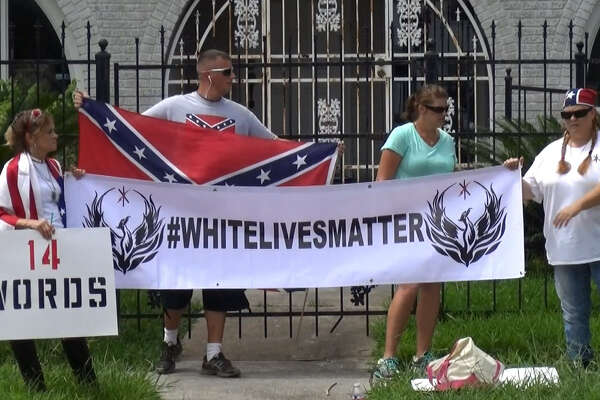 White Lives Matter protested in front of the NAACP office in Third Ward on Sunday.