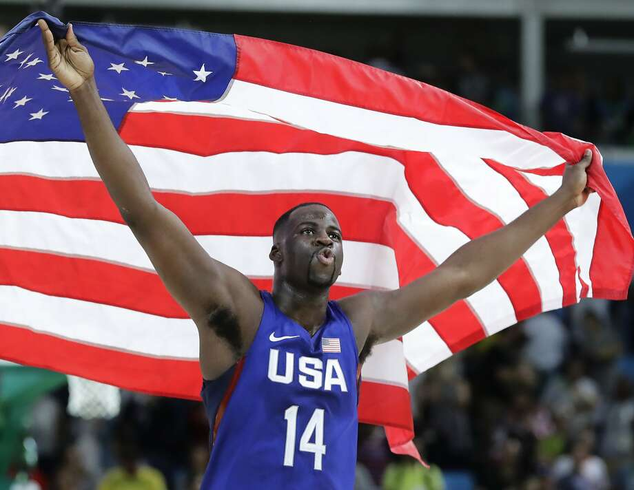 United States' Draymond Green (14) celebrates winning the men's basketball gold medal at the 2016 Summer Olympics in Rio de Janeiro, Brazil, Sunday, Aug. 21, 2016. (AP Photo/Matt York) Photo: Matt York, Associated Press