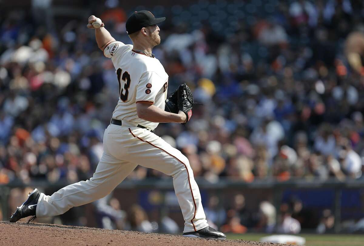 Left-hander Will Smith was a key member of the Giants' bullpen after they acquired him from Milwaukee on Aug. 1.