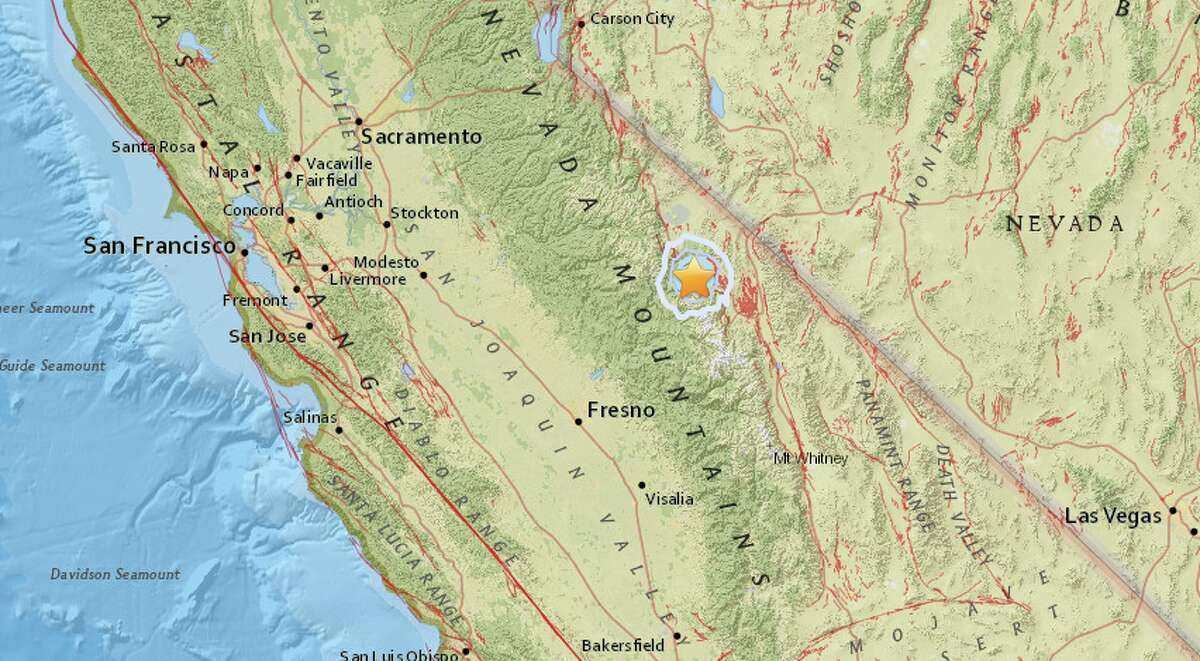 An earthquake with a preliminary magnitude of 3.8 struck near Mammoth Lakes.