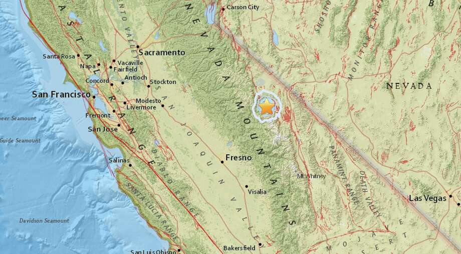 An earthquake with a preliminary magnitude of 3.8 struck near Mammoth Lakes. Photo: USGS