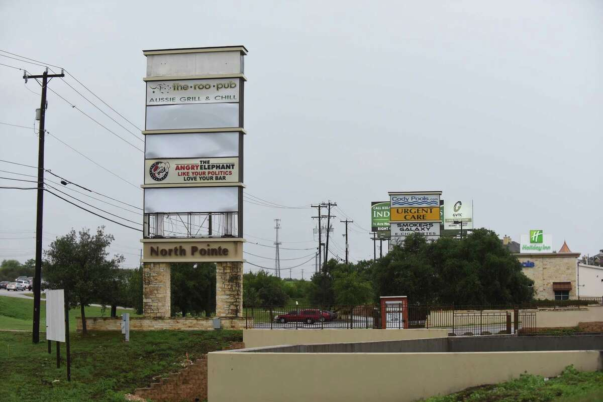 The North Pointe Shopping Center at U.S. 281 and Redlands Drive was auctioned Aug. 25. The property was seized from the former treasurer of the Mexican state of Coahuila. Hector Javier Villarreal, the former treasurer, pleaded guilty to financial crimes after prosecutors accused him of laundering in Texas tens of millions of dollars stolen from the state.