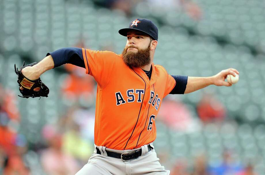 BALTIMORE, MD - AUGUST 21:  Dallas Keuchel #60 of the Houston Astros pitches in the second inning against the Baltimore Orioles at Oriole Park at Camden Yards on August 21, 2016 in Baltimore, Maryland. Photo: Greg Fiume, Getty Images / 2016 Getty Images