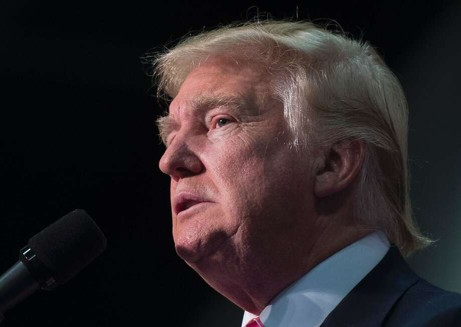 Republican presidential nominee Donald Trump addresses a campaign event at Fredericksburg Expo Center August 20, 2016, in Fredericksburg, Virginia. Photo: MOLLY RILEY, AFP/Getty Images
