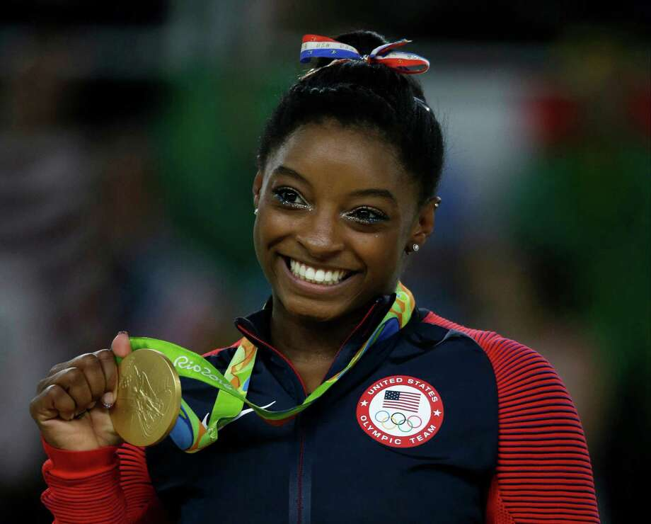 """Simone Biles will appear on tonight's episode of """"The Tonight Show"""" with her USA gymnastics teammates. Photo: Rebecca Blackwell, STF / Copyright 2016 The Associated Press. All rights reserved. This material may not be published, broadcast, rewritten or redistribu"""