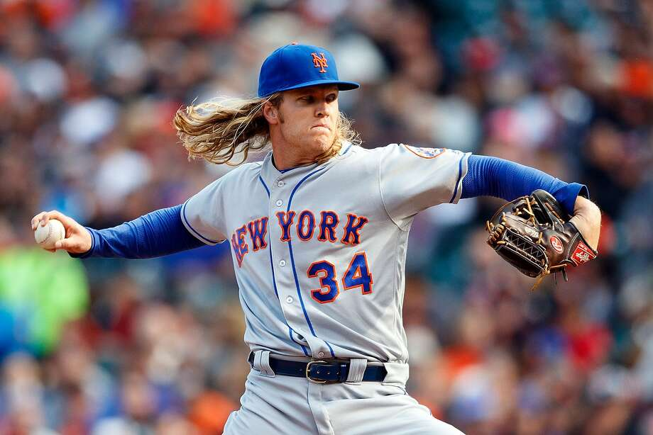 SAN FRANCISCO, CA - AUGUST 21: Noah Syndergaard #34 of the New York Mets pitches against the San Francisco Giants during the first inning at AT&T Park on August 21, 2016 in San Francisco, California.  (Photo by Jason O. Watson/Getty Images) Photo: Jason O. Watson, Getty Images