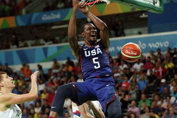 Serbia couldn't hang with Kevin Durant and the U.S. on Sunday as Durant scored 30 points to lead a 96-66 victory over a team the Americans beat by only three points in pool play.