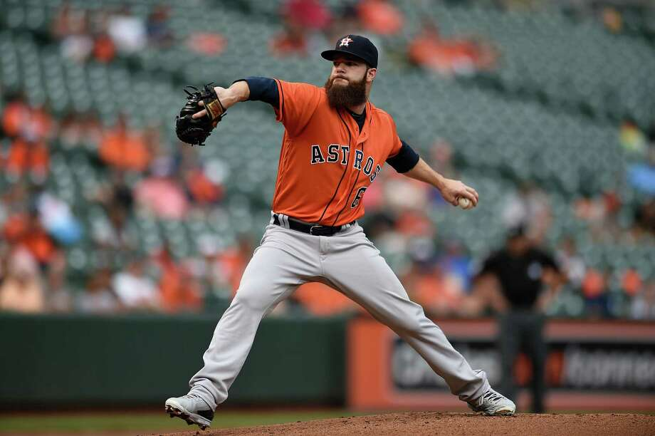 Astros lefthander Dallas Keuchel has been cleared to begin throwing and plans to start his normal offseason throwing program just after Christmas, he said on Thursday. Photo: Gail Burton, FRE / FR4095 AP
