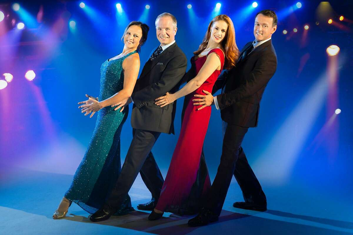 Sally Ann Triplett (left), Damian Humbley, Teal Wicks and Andrew Lippa.