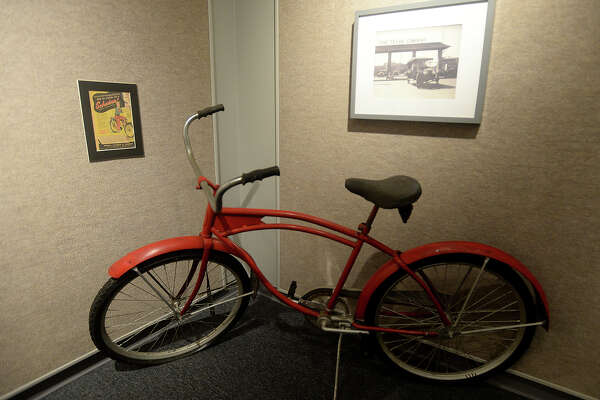 A 1950's-era bicycle used as transportation by refinery workers is among the historical artifacts on display at the Museum of the Gulf Coast that will provide hints to solving the clues in a county-wide scavenger hunt. The event is being organized by the museum and Jefferson County Historic Commission and begins Monday. Prizes will be awarded to those who are among the first to successfully find all the historic landmarks, learning a great deal about the rich and storied history to be found here along the way. Photo taken Wednesday, August 17, 2016 Kim Brent/The Enterprise