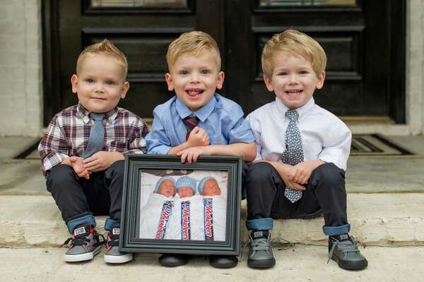 3-year-old triplets Noble, Roan, and Fuller Broaddus spent 41 days in St. Elizabeth's NICU after they were born at 29 1/2 weeks on Jan. 11, 2013.