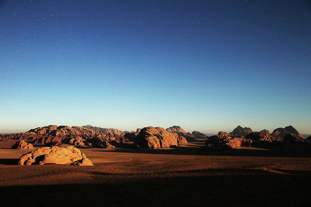 Wadi Rum, a desert area in Jordan where Hollywood filmed the 2015 Oscar-winning film