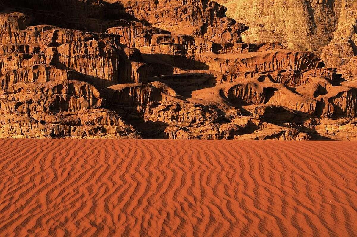 "Wadi Rum, a desert area in Jordan where Hollywood filmed the 2015 Oscar-winning film ""The Martian."""