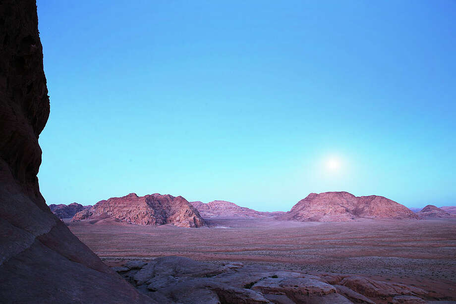 "Wadi Rum, a desert area in Jordan where Hollywood filmed the 2015 Oscar-winning film ""The Martian."" Photo: Adam Pretty/Getty Images"