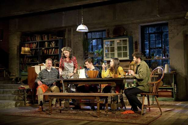 "The cast of ""Tribes"" at Barrington Stage. (BSC publicity photo by SCott Barrow.)"