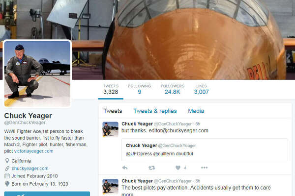 He's been on Twitter for years now but legendary test pilot Chuck Yeager has rarely answered questions about his decades of flying experience. That changed this past weekend.