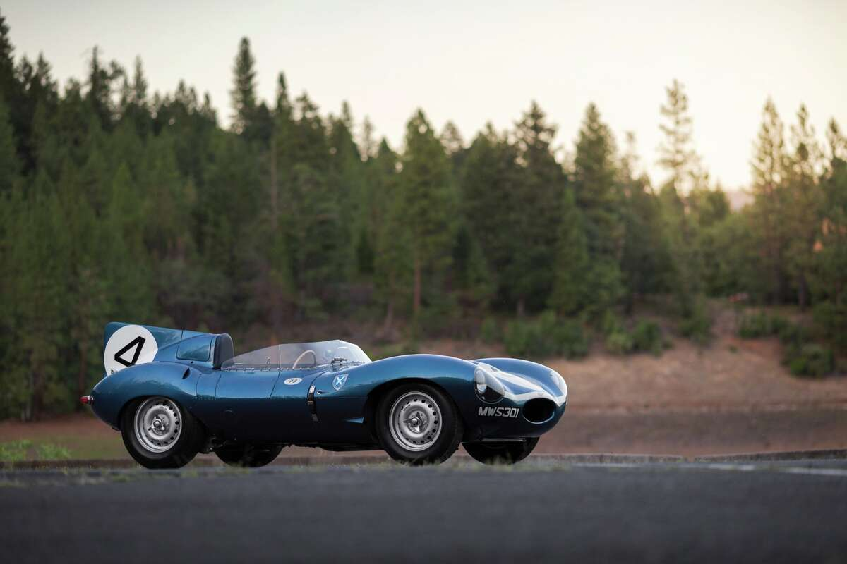 This 1955 Jaguar D-Type, the overall winner at Le Mans in 1956, was sold at auction by RM Sotheby's for $21.78 million dollars at Pebble Beach.