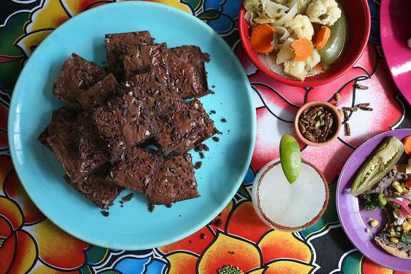 Mexican chocolate brownies, a Oaxacan inspired dish, on Wednesday, August 17, 2016, in San Francisco, Calif.