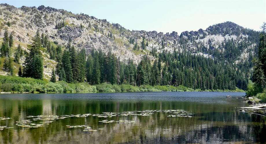Taylor Lake in the Russian Wilderness in Northern California is one of a handful of wheelchair-accessible lakes in wilderness. It is about a 15-minute walk and can also be used for a backpack trip to Hogan Lake and beyond as off-trail trek to Big Blue Lake. Three lakes, three scopes of challenges. Photo: Tom Stienstra, Tom Stienstra / The Chronicle