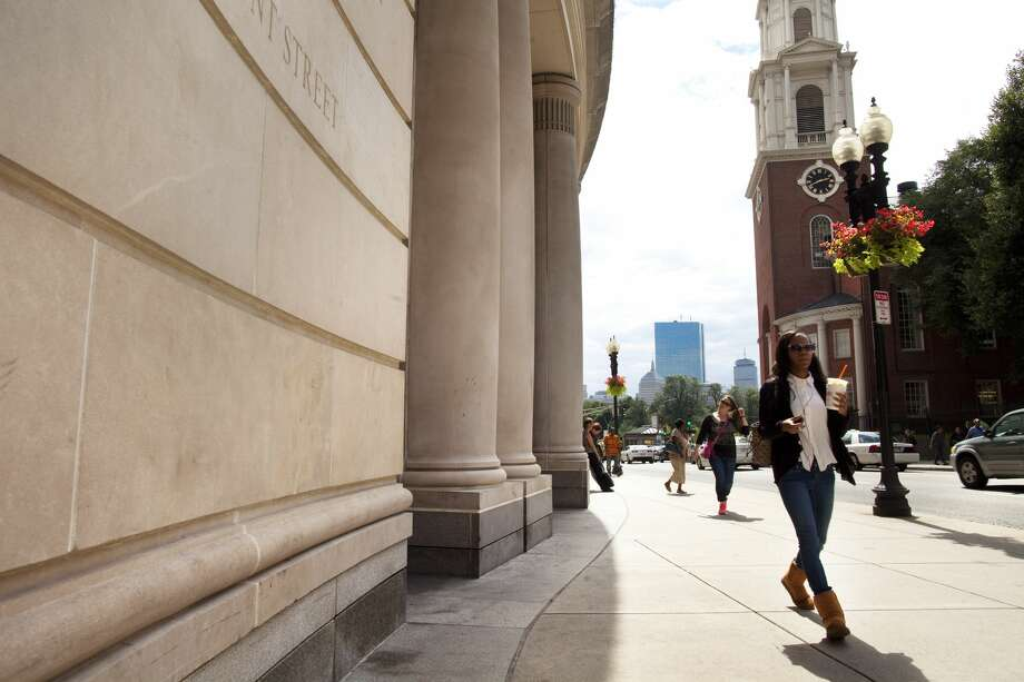 30. Boston University School of LawAcceptance rate: 37.9 percentMedian LSAT score: 163Median undergraduate GPA: 3.67 Photo: Boston Globe/Boston Globe Via Getty Images