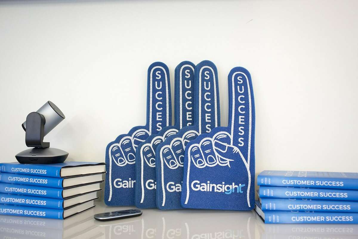 Foam fingers in the offices of Gainsight, a Redwood City, Calif., company whose software helps companies track and retain customers, at their location in Phoenix, Aug. 9, 2016. After struggling with high salaries and soaring housing costs, some Silicon Valley tech companies like Gainsight expanded eastward where they could grow more quickly and make jobs more appealing. (Caitlin O'Hara/The New York Times)