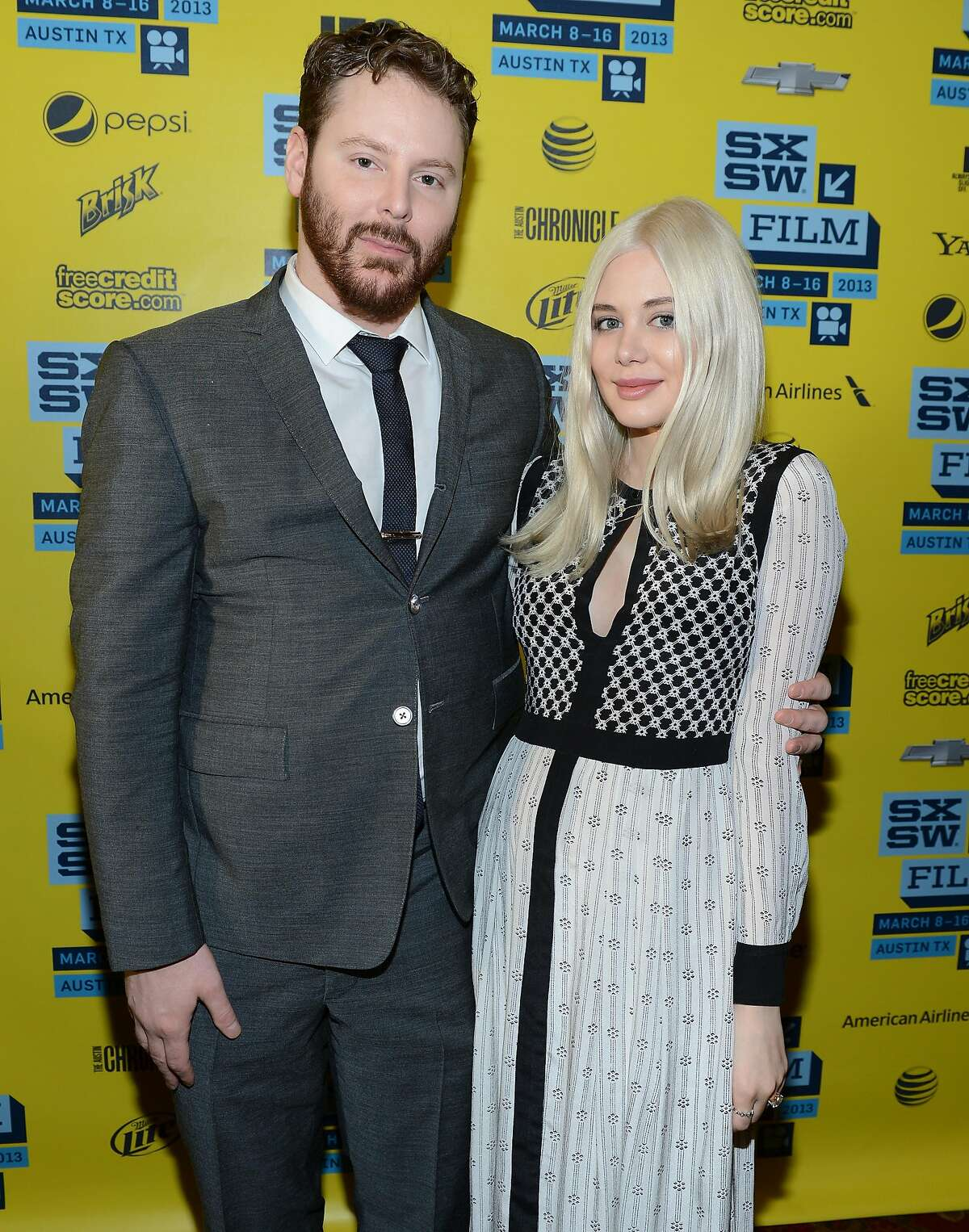 Founder of Napster Sean Parker (L) and fiance Alexandra Lenas attend the World Premiere of 'Downloaded' during the 2013 SXSW Music, Film + Interactive Festival at Paramount Theatre on March 10, 2013 in Austin, Texas.