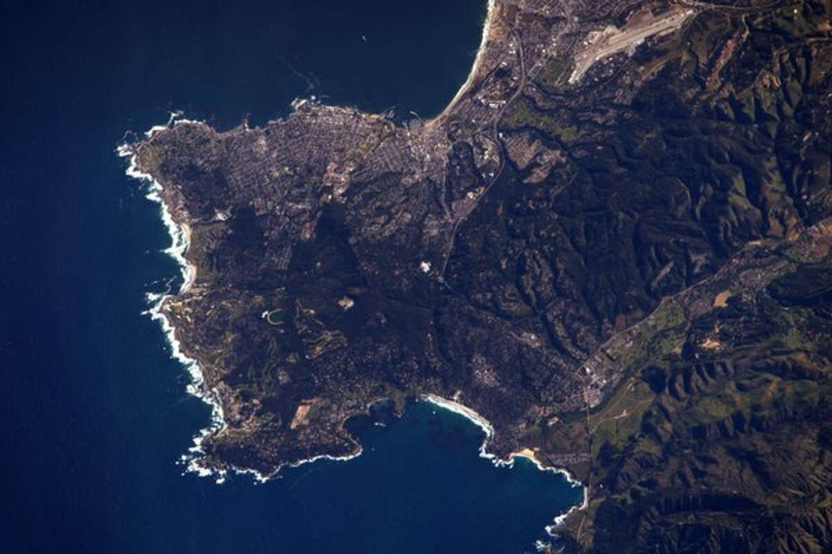 Astronaut Jeff Williams tweeted: Beautiful Monterey Peninsula, where we lived for two years in the '80's.