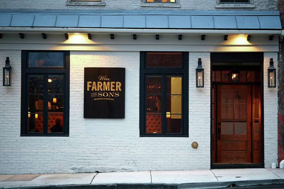 Wm. Farmer and Sons, on Front Street in Hudson, NY. It's a beautifully transformed modern-vintage boarding house and barroom with mercantile and coffee shop in an historic 1830s building. (Marc J. Harary) Photo: Marc J. Harary