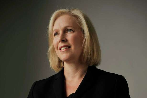 U.S. Senator Kirsten Gillibrand poses for a photo on Monday, July 18, 2016, in Colonie, N.Y.  (Paul Buckowski / Times Union)