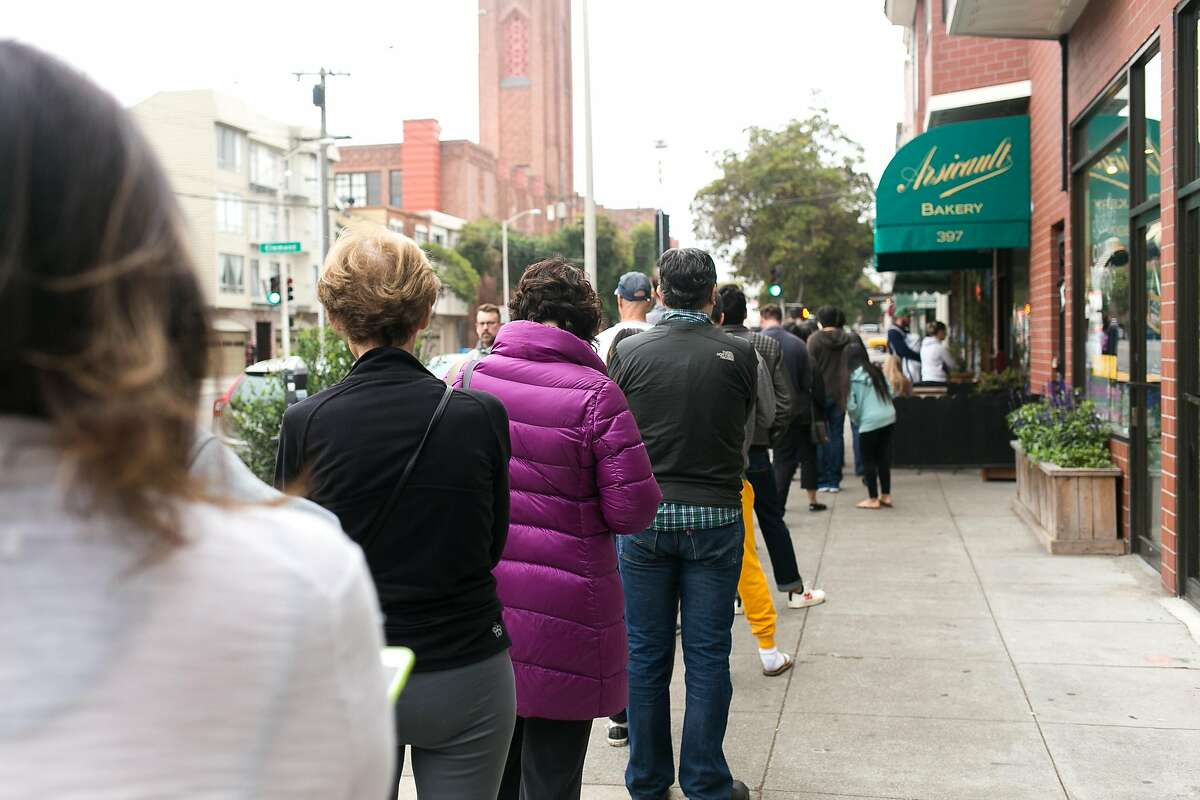 The long line at Arsicault Bakery in S.F.