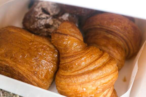A box of croissants from Arsicault Bakery in S.F.