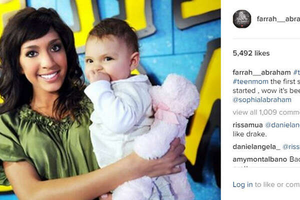 Reality star Farrah Abraham posted a photo of her daughter that raised concerns with her followers, but this isn't the first time she's gotten flack for her posts. 