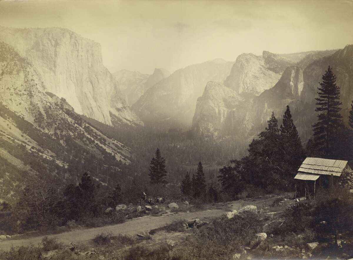Looking east up Yosemite Valley from Artist Point, Yosemite National Park, California, 1865.