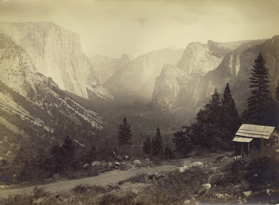 Looking east up Yosemite Valley from Artist Point, Yosemite National Park, California, 1865. Photo: Carleton E. Watkins