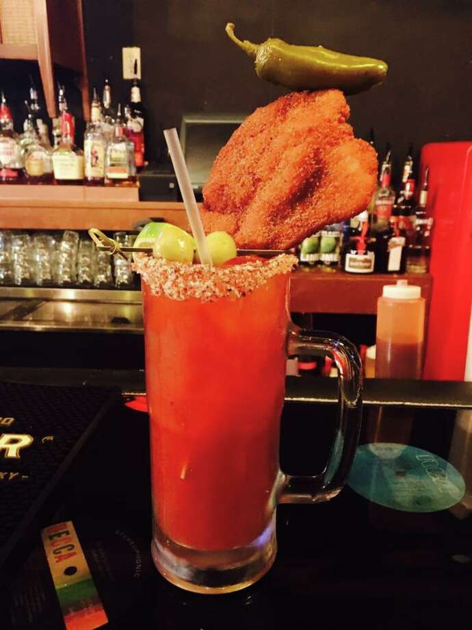 Michelada with chicken-on-a-stick from The Bang Bang Bar. Photo: The Bang Bang Bar