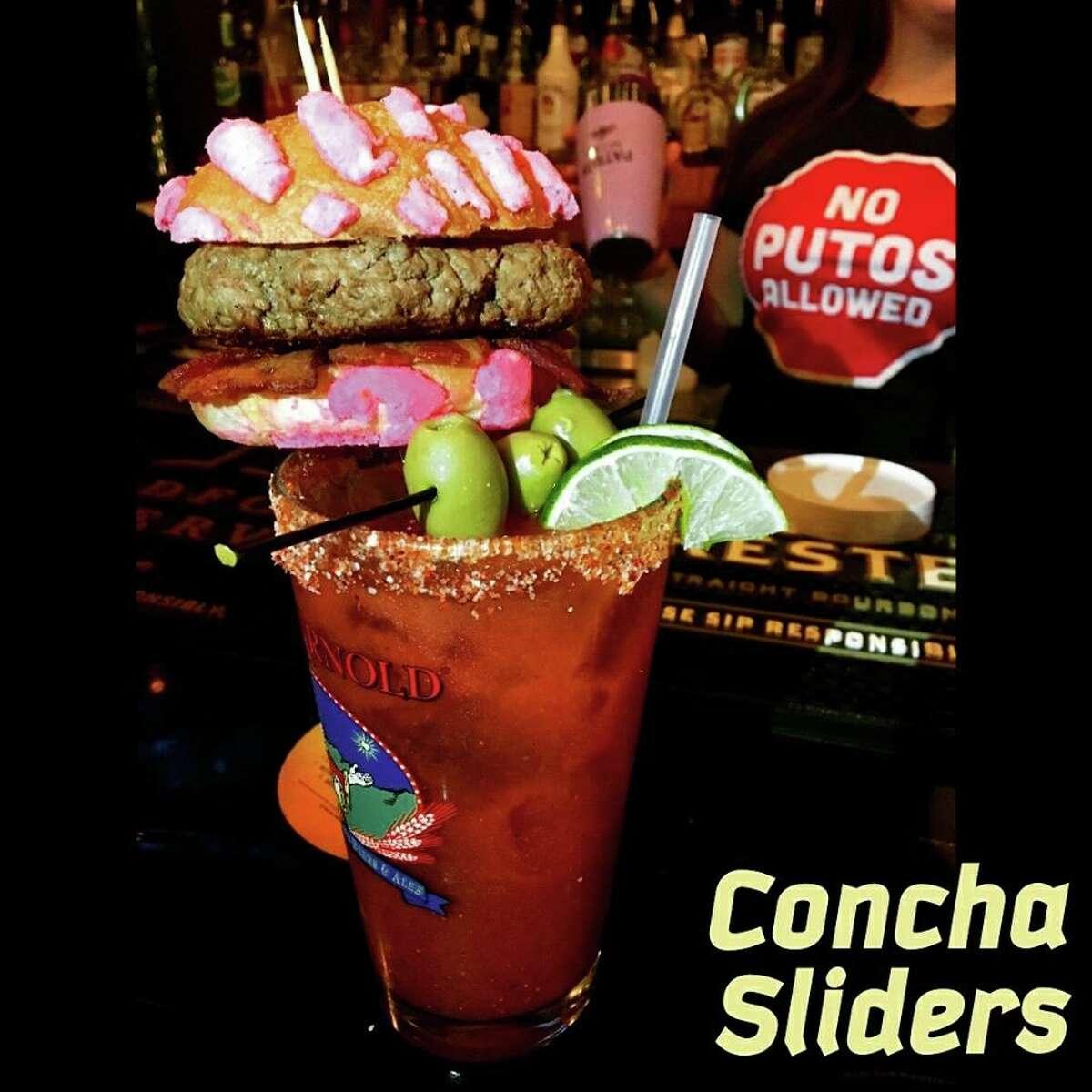 Michelada with concha slider from The Bang Bang Bar.
