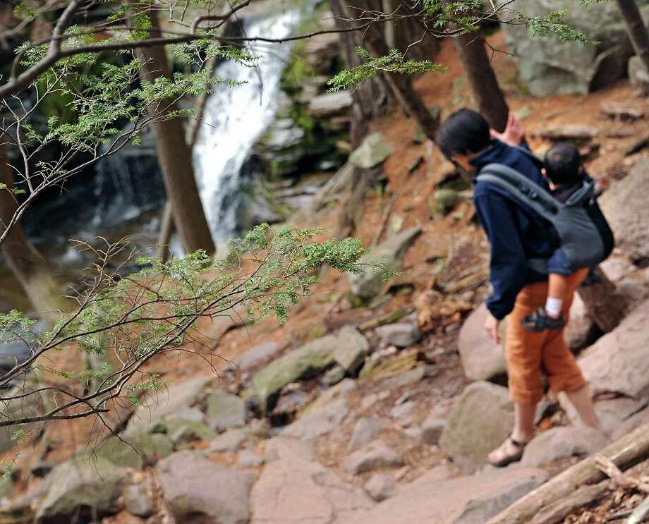 The Kaaterskill Falls on Thursday, April 28, 2016 in Haines Falls, N.Y. (Lori Van Buren / Times Union) Photo: Lori Van Buren / 10036409A