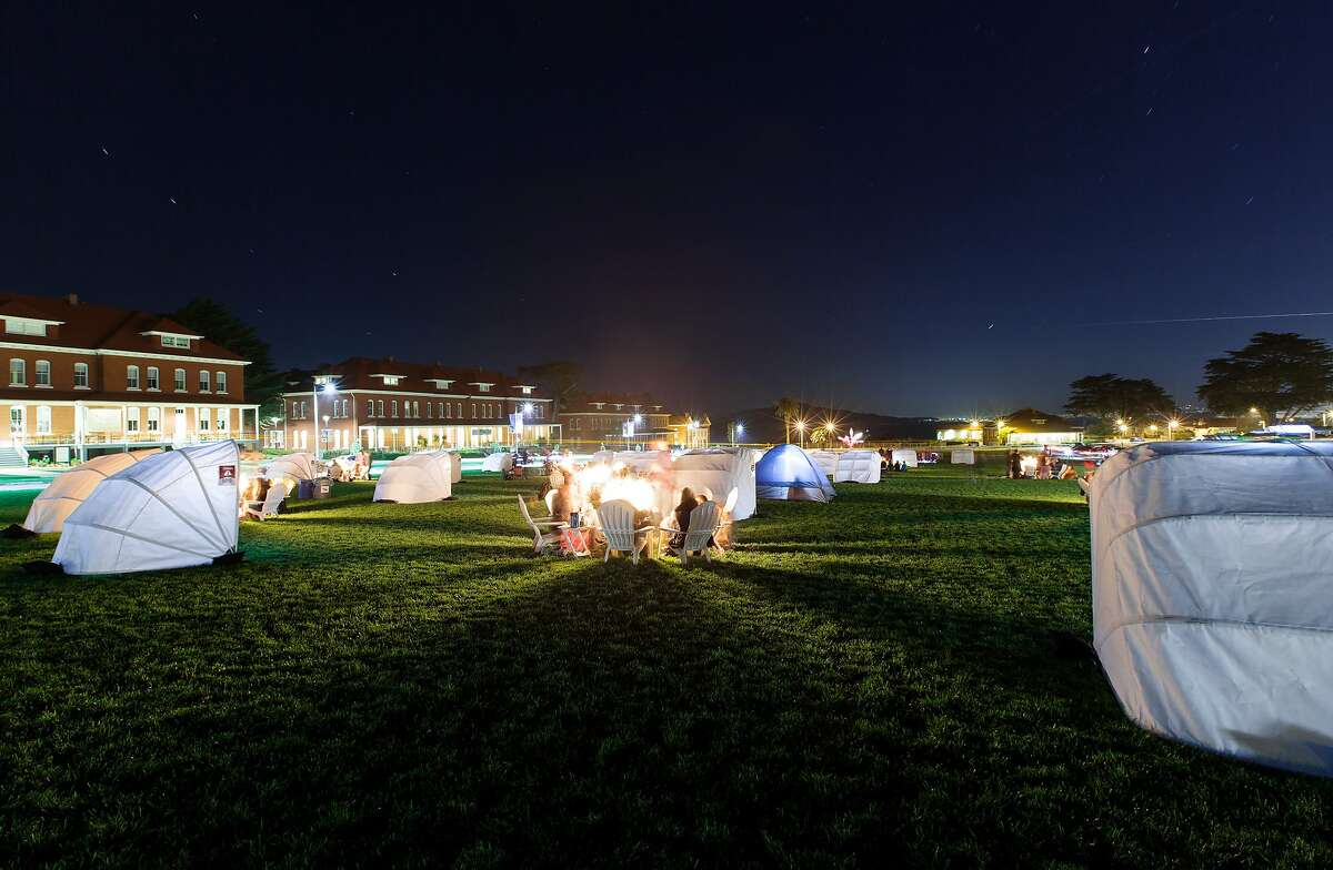 Thursday nights at the Presidio are full of campfires and cabanas.