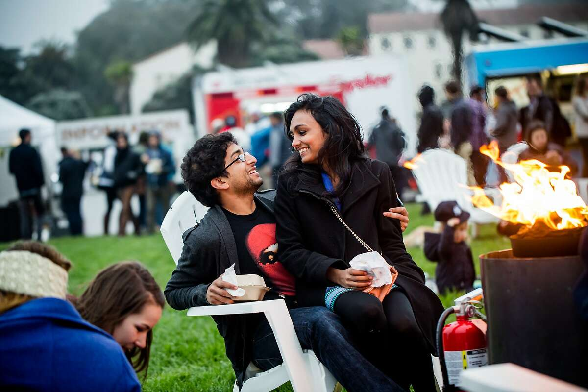 Thursday evenings at the Presidio are full of campfires and cabanas.