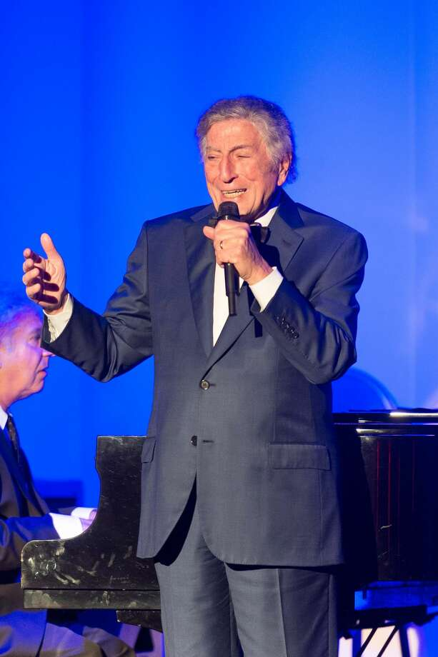 On Saturday, Aug. 20, Tony Bennett returned to the Fairmont San Francisco's famed Venetian Room stage, where he first performed I Left My Heart in San Francisco in public in 1961, for a benefit dinner and concert.  Photo: Susana Bates For Drew Altizer Photo