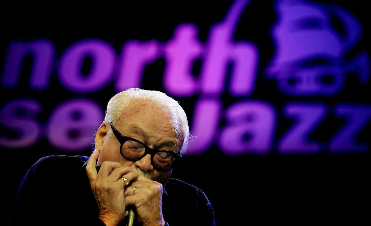 (FILES) This file photo taken on July 09, 2005 shows Belgian harmonica player Toots Tielemans performing at the 30th North Sea Jazz Festival in The Hague. Belgian legend 'Toots' Thielemans has died after a 70-year career as the world's top harmonica player during which he made music with some of the biggest names in jazz. Jean-Baptiste Frederic Isidore Thielemans, known affectionately as 'Toots', died aged 94 in his sleep in a Brussels hospital early on August 22, 2016, his manager Veerle Van de Poel told AFP. / AFP PHOTO / ANP / RICK NEDERSTIGTRICK NEDERSTIGT/AFP/Getty Images