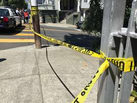 In this generic file photo, police crime scene tape is stretched across Lombard Street in San Francisco following a shooting on Aug. 25, 2015.